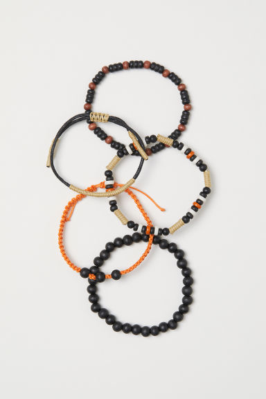 5-pack bracelets - Orange/Black - Men | H&M CN
