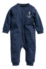 3-pack all-in-one pyjamas - Dark blue/Striped - Kids | H&M CN 4