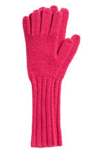Cashmere-blend gloves - Cerise - Ladies | H&M IE 1