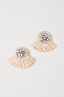 Paper straw earrings