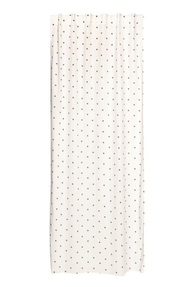 Star-print curtain length - Natural white/Blue stars -  | H&M IE