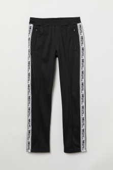 Side-striped sports trousers