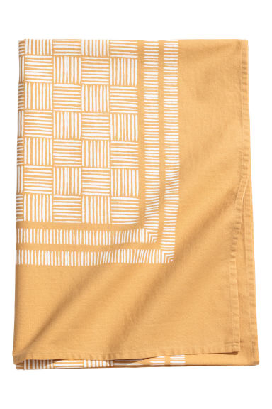 Patterned cotton tablecloth - Mustard yellow/Patterned - Home All | H&M CN