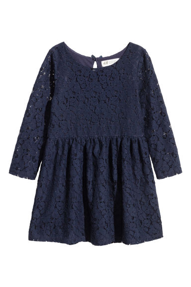 Dress - Dark blue/Lace - Kids | H&M