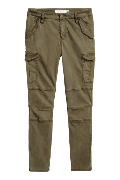 Lyocell-blend cargo trousers Model
