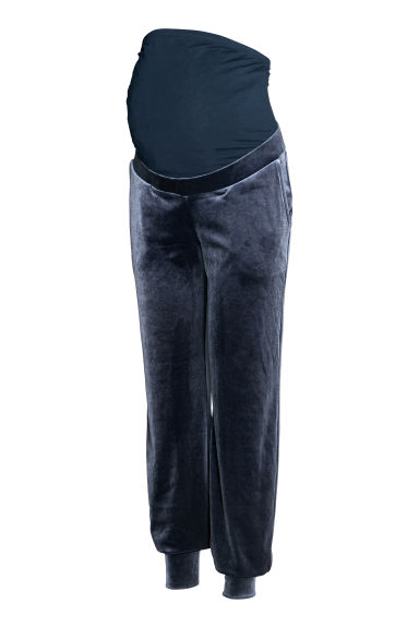 MAMA Velour joggers - Pigeon blue - Ladies | H&M