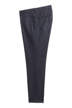 Checked suit trousers Slim fit - Dark blue/Grey checked - Men | H&M CN 3