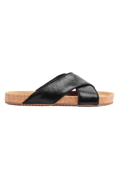 Leather sandals - Black - Kids | H&M CN