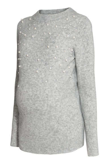 MAMA Fine-knit jumper - Grey - Ladies | H&M CN