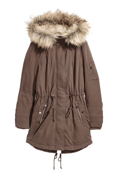 Padded parka - Brown -  | H&M