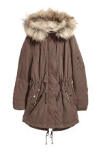 Padded parka - Brown - Ladies | H&M CN 2
