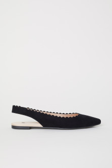Scallop-edged Ballet Flats