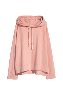 Wide-cut Hooded Top
