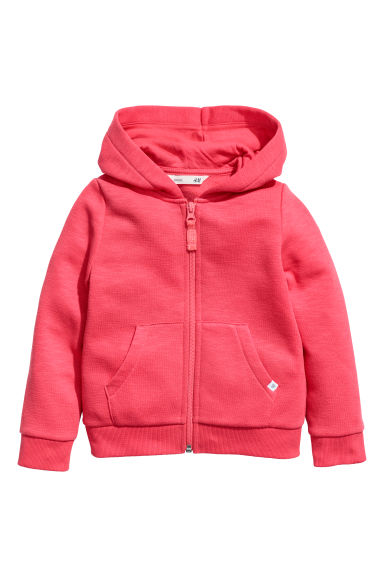 Hooded jacket - Raspberry red - Kids | H&M CN