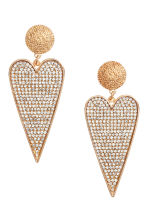 Large earrings - Gold-coloured - Ladies | H&M CN 1