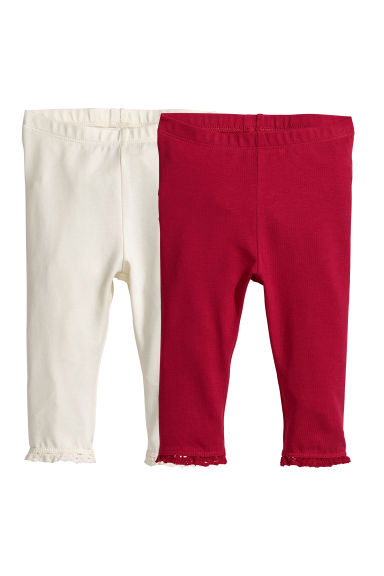 Lot de 2 leggings - Rouge - ENFANT | H&M FR 1