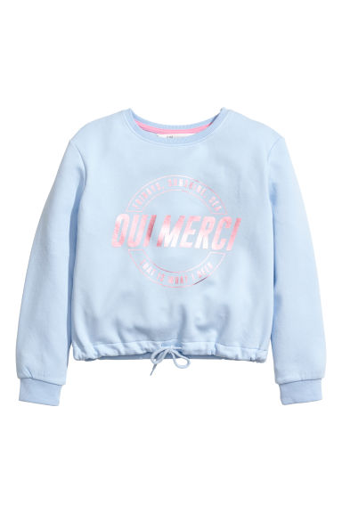 Printed sweatshirt - Light blue - Kids | H&M