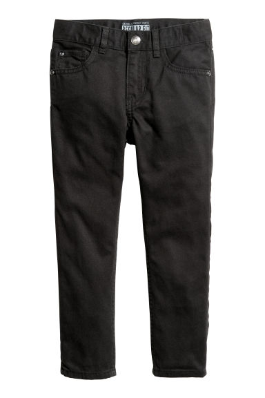 Twill trousers Regular fit - Black - Kids | H&M CN
