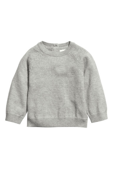 Cashmere-blend Sweater - Gray - | H&M CA