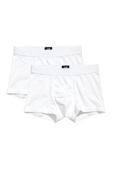 2-pack trunks i pimabomull - Vit -  | H&M FI