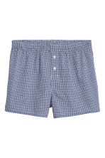 3-pack woven boxer shorts - Bright blue/Checked - Men | H&M CN 5