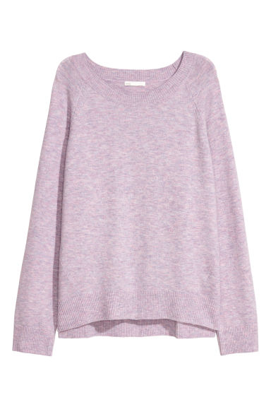 Knitted wool-blend jumper - Light purple -  | H&M CN