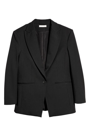 Oversized jacket - Black - Ladies | H&M CN