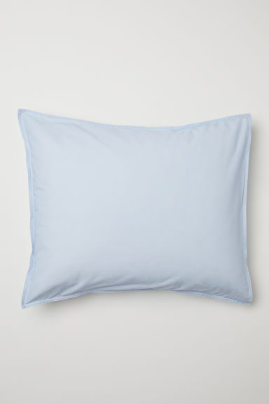 Washed cotton pillowcase - Light blue -  | H&M IE