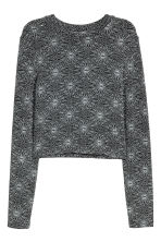 Glittery jersey top - Black/Silver-coloured - Ladies | H&M CN 2