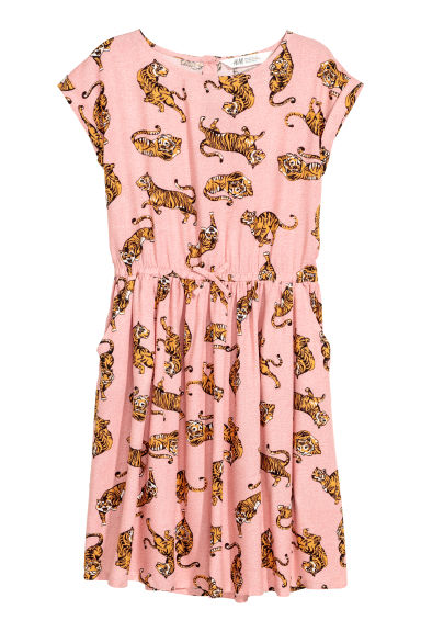 Robe à motif - Rose/tigres - ENFANT | H&M BE