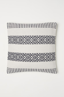 Jacquard-pattern cushion cover