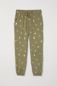 Patterned pull-on trousers