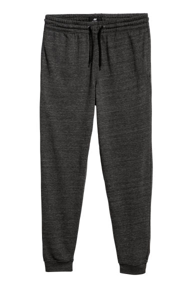 Pantalon Regular fit - Gris foncé chiné - HOMME | H&M FR