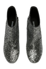 Glittery ankle boots - Silver-coloured/Glitter - Ladies | H&M IE 2