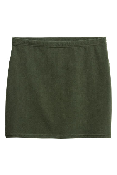 Jersey skirt - Dark green - Ladies | H&M 1