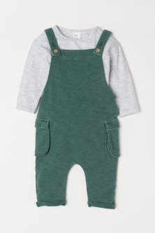 Bib Overalls and Top