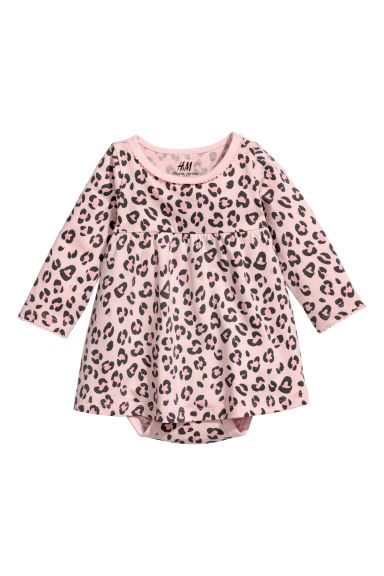 Kleid - Rosa/Leopardenmuster - KINDER | H&M CH 1