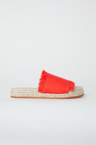 Slides - Red - Ladies | H&M CN