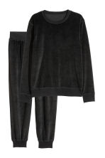 Velour pyjamas - Black - Men | H&M CN 2