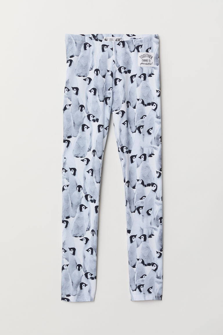 Leggings with Printed Design
