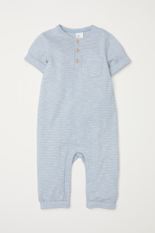 Short-sleeved romper suit
