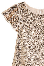 Sequined dress - Light beige -  | H&M CN 2