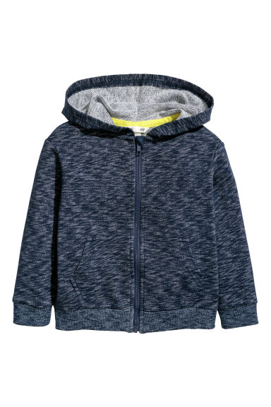Hooded jacket - Dark blue marl -  | H&M CN