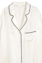 Silk nightshirt - Natural white - Ladies | H&M IE 3