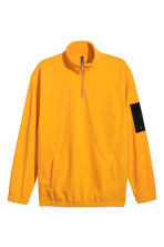 Zipped fleece top - Bright yellow/Black - Men | H&M 2