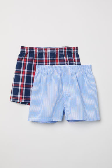 2-pack boxer shorts - Red/Blue checked - Kids | H&M CN