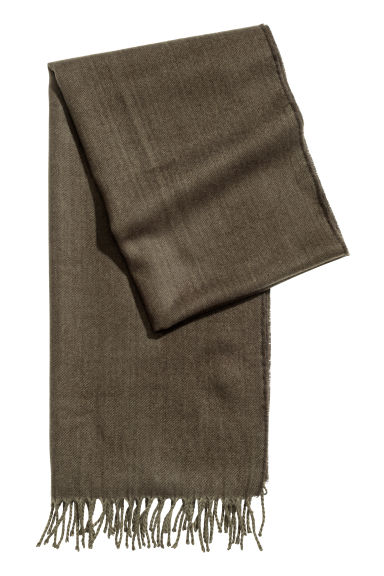 Scarf - Dark khaki green -  | H&M GB
