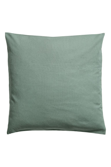 Cotton canvas cushion cover - Khaki green - Home All | H&M IE
