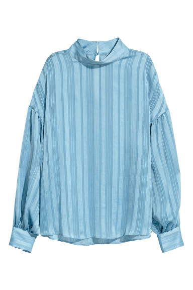 Balloon-sleeved blouse - Light blue - Ladies | H&M