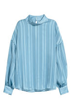 Balloon-sleeved blouse - Light blue - Ladies | H&M 2